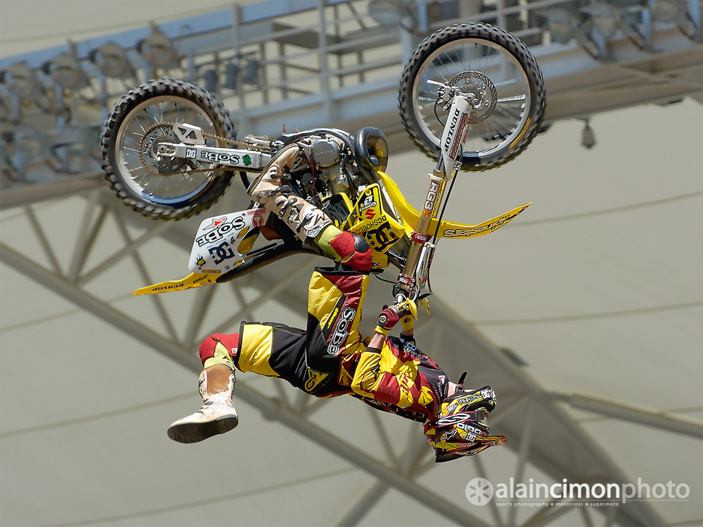 Les figures de freestyle, sauts en motocross (