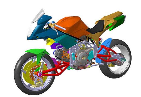le cadre d une moto fait parti de la partie cycle. Black Bedroom Furniture Sets. Home Design Ideas