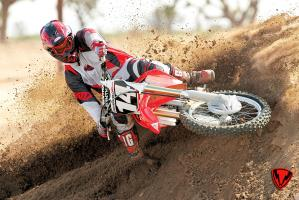 Virage en moto cross