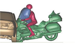 Crash test air bag goldwing