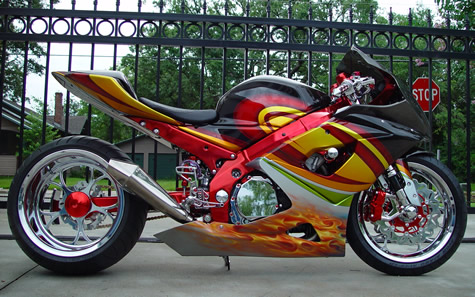 SUZUKI 1000 GSXR modifiée