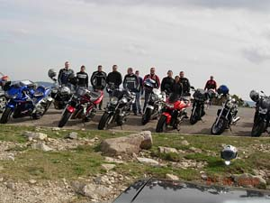 Photo de groupe au Mont Aigoual
